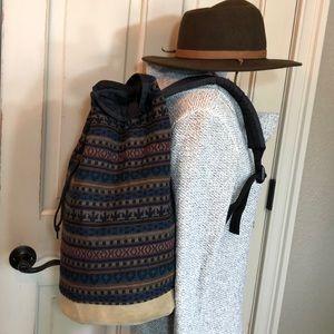 Pendleton Wool & Leather Bucket Bag